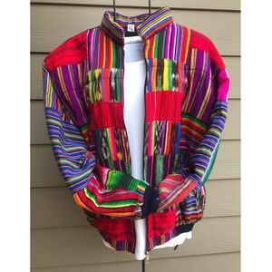 🌈 Vintage Guatemala Patchwork Jacket 🌈